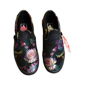 Vans Satin Floral Embroidered Sneakers | B…